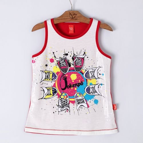 Regata Jokenpô Infantil Tênis Vermelha