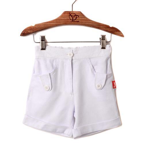 Shorts Infantil Linho Branco