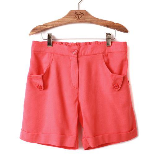 Shorts Jokenpô Infantil Linho Coral