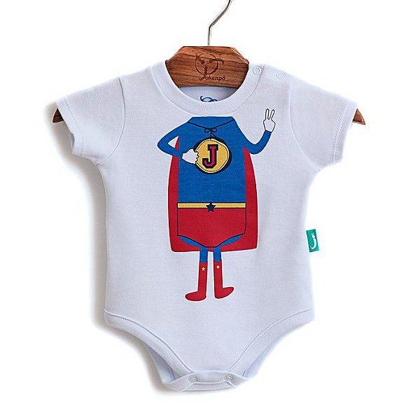 Body Bebê Super Jok Bco/Verm.