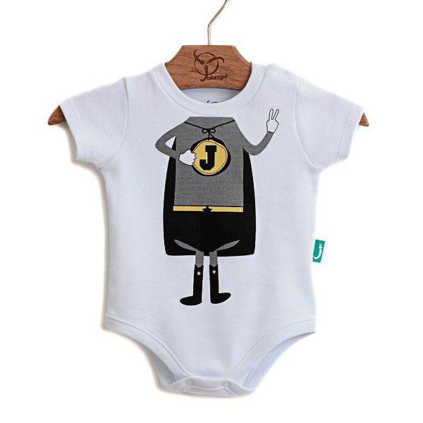 Body Jokenpô Bebê Super Jok Bco/Cinza