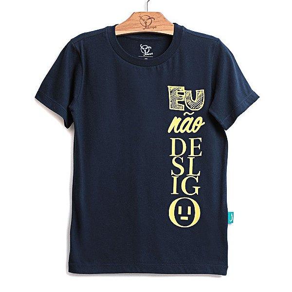 Camiseta Jokenpô Infantil Desligo Marinho Brilha no Escuro
