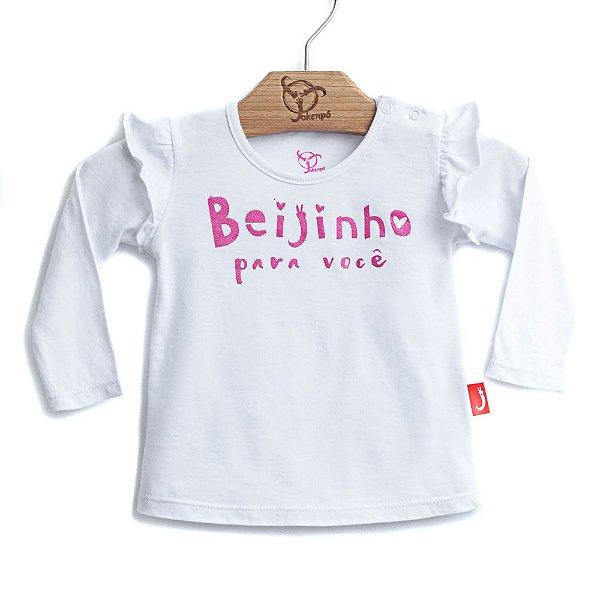 Blusa Bebê Beijinho Branca