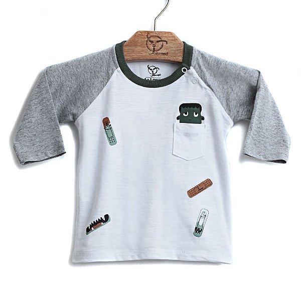 Camiseta Jokenpô Bebê Band-Aid Branca