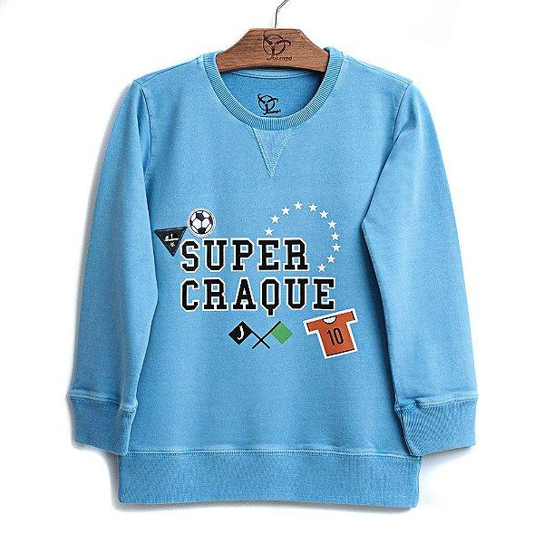Blusa Jokenpô Infantil Super Craque Azul