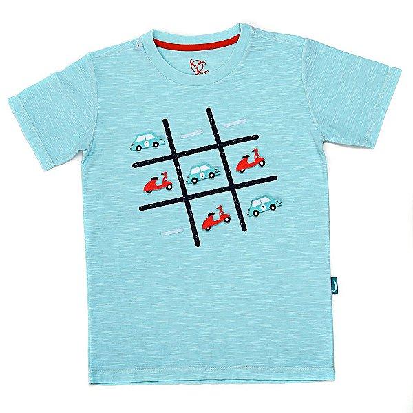 Camiseta Jokenpô Infantil Jogo Carro e Vespa Para Desgrudar e Brincar