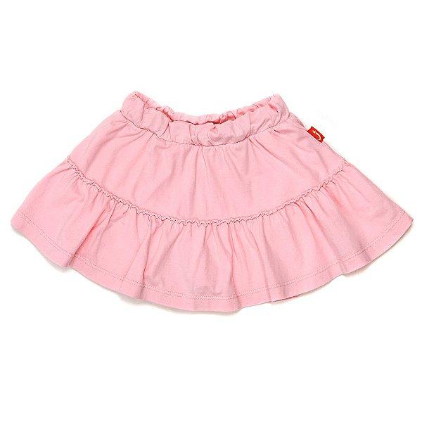 Saia Shorts Jokenpô Infantil Babado Rosa