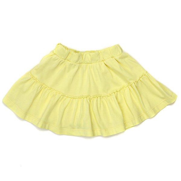 Saia Jokenpô Shorts Infantil Babado Amarelo