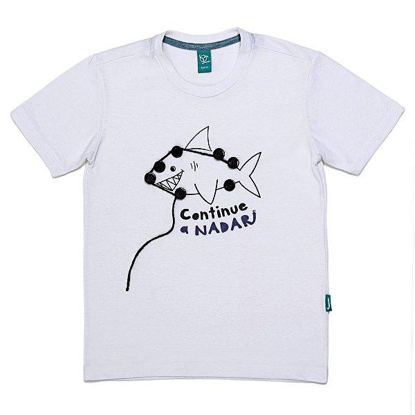 Camiseta Jokenpô Infantil Tubarão com Liga Pontos para Brincar