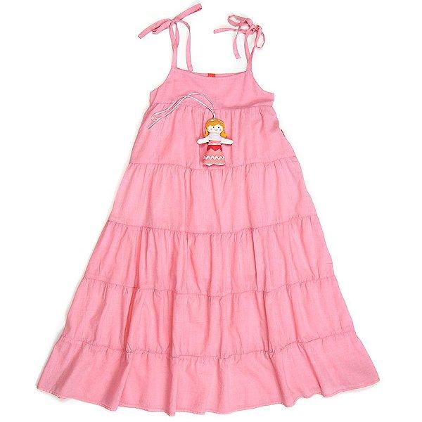Vestido Jokenpô Infantil Longo Boneca Rosa