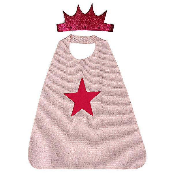 Coroa e Capa Jokenpô Infantil Estrela