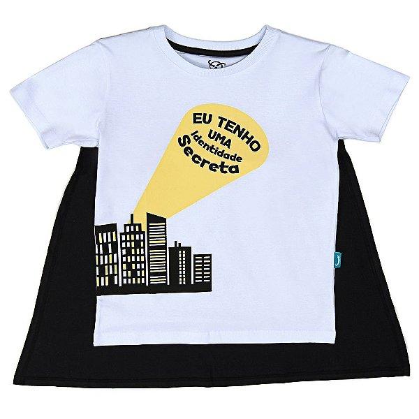 Camiseta Jokenpô Infantil Identidade Secreta