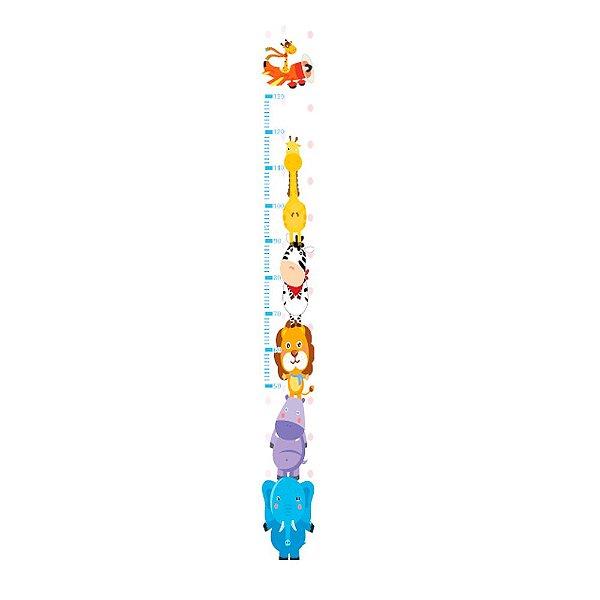 Régua Jokenpô Adesiva Autocolante de Crescimento Infantil Safari