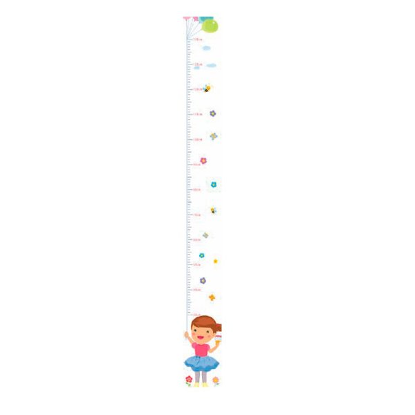 Régua Jokenpô Adesiva Autocolante de Crescimento Infantil Menina