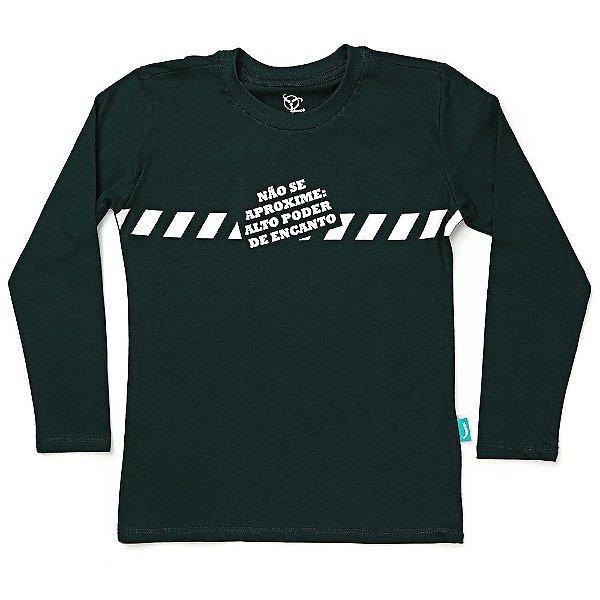 Camiseta Jokenpô Infantil M/L Não Se Aproxime Verde