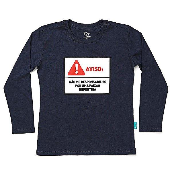 Camiseta Jokenpô Infantil M/L Aviso Chumbo
