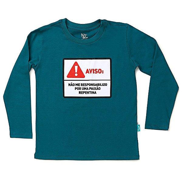 Camiseta Jokenpô Infantil M/L Aviso Verde
