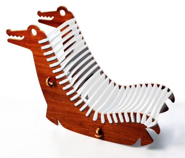 Cadeira Jokenpô/Tauga Infantil Alli Branca