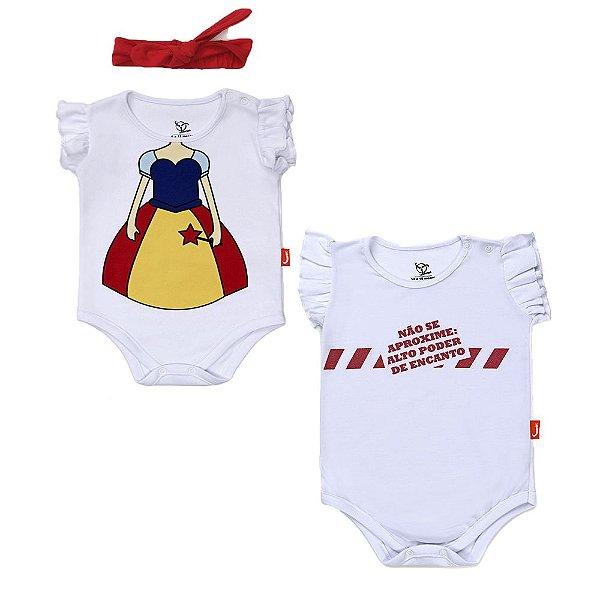 Kit 2 Peças - Bodies Jokenpô Bebê Fada / Aproxime