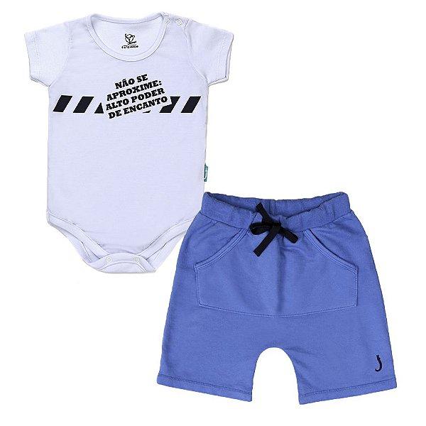Conjunto 2 Peças - Body Jokenpô Bebê Aproxime + Bermuda