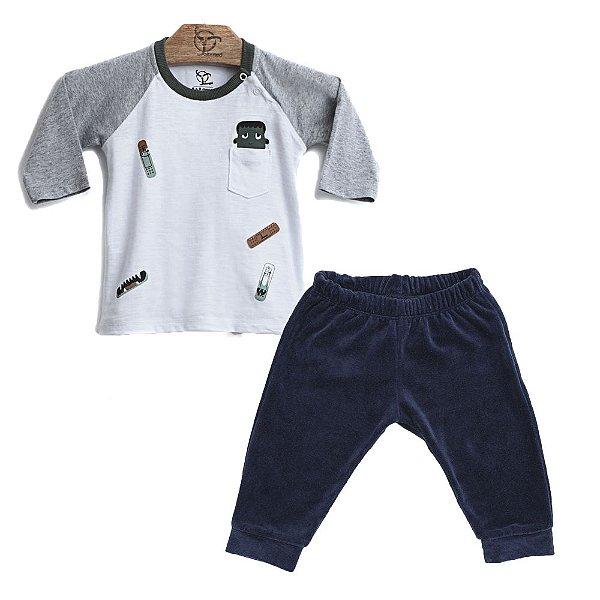 Conjunto 2 Peças - Camiseta Jokenpô Bebê Bandaid + Calça