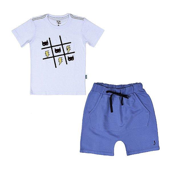 Conjunto 2 Peças - Camiseta Jogo + Bermuda Azul
