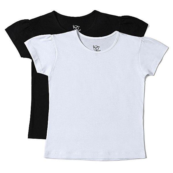 Kit 2 Camisetas Infantil Jokenpô Básica Feminina