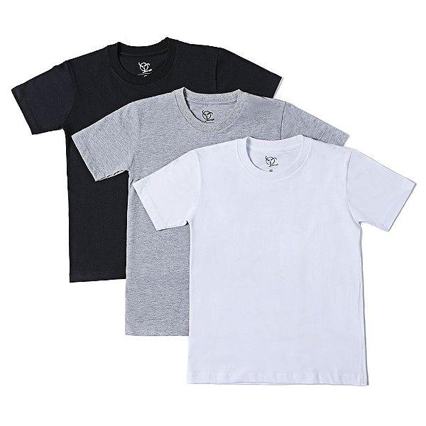 Kit 3 Camisetas Infantil Jokenpô Básica Masculina