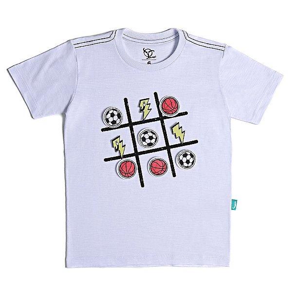 Camiseta Infantil Jokenpô Jogo Bolas Masculina