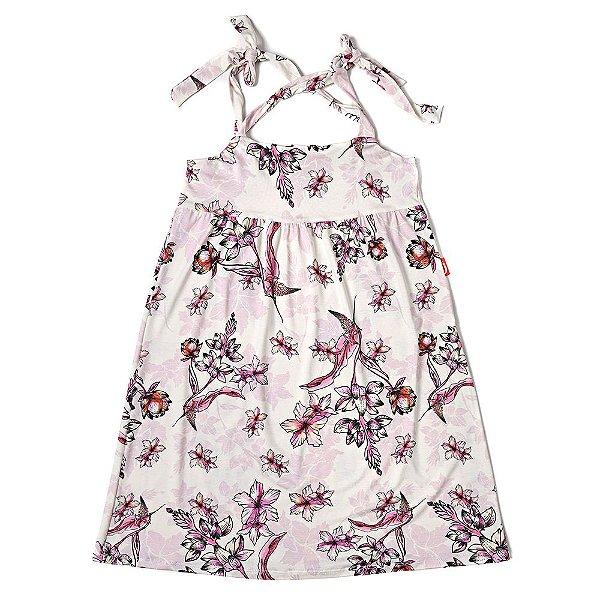 Vestido Infantil Jokenpô Floral Rosa Claro