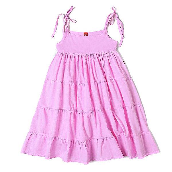 Vestido Infantil Jokenpô Cambraia Rosa