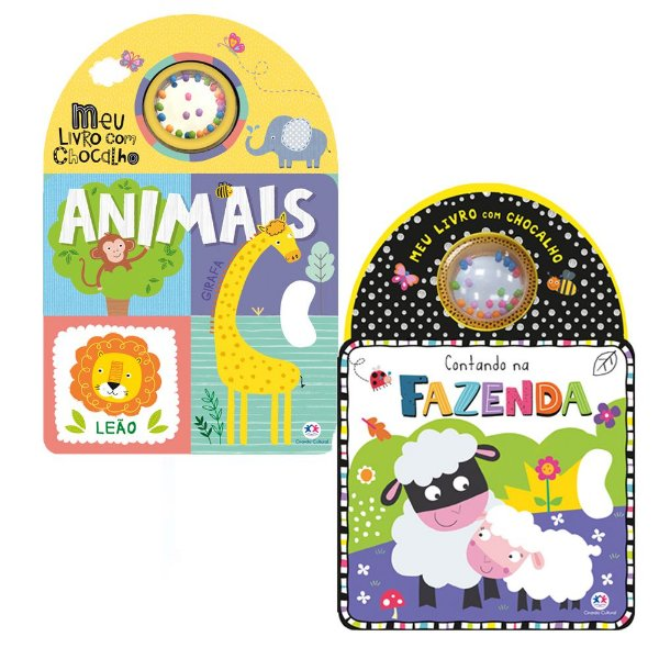 Kit 2 Livros Chocalho - Animais + Contando na Fazenda