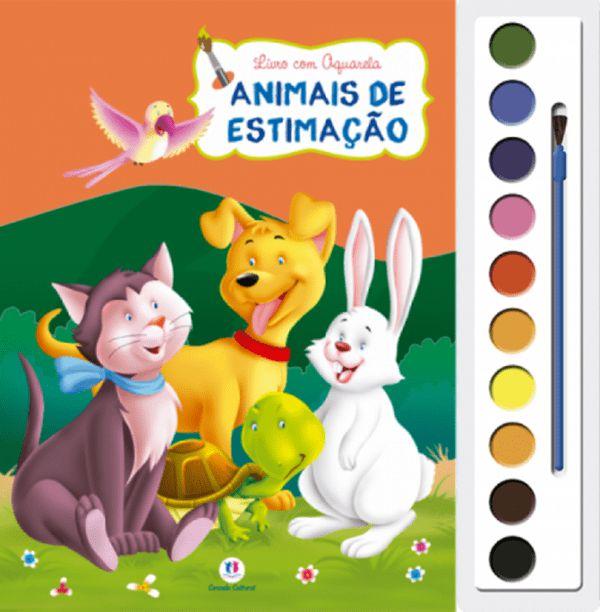 Livro Aquarela Animais de estimação
