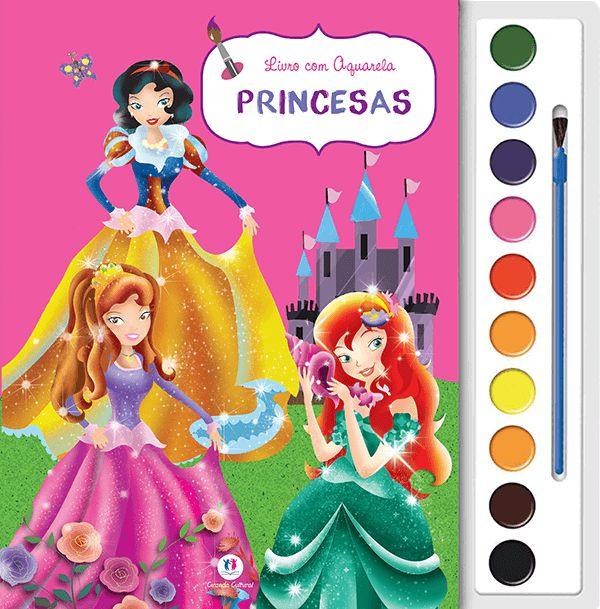 Livro Aquarela Princesas