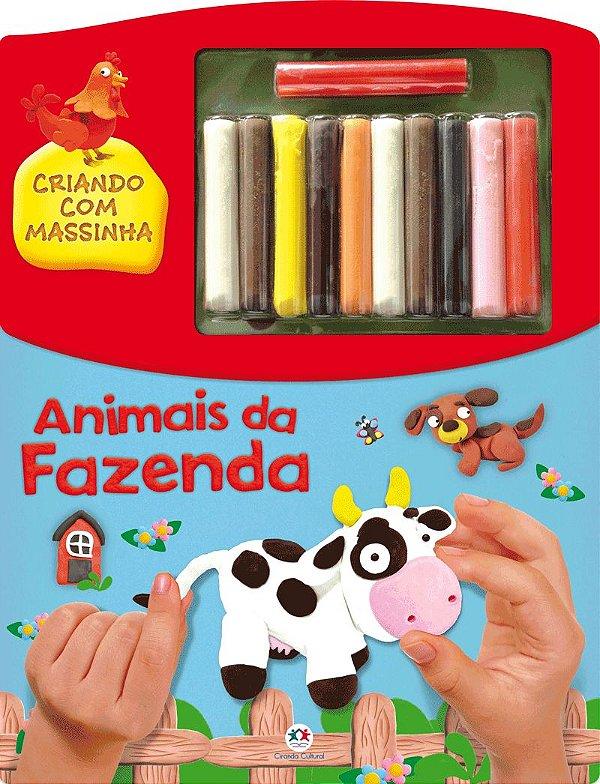 Livro Animais da Fazenda - Criando com Massinha