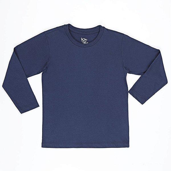 Camiseta Infantil Jokenpô Básica M/L Masculina Marinho
