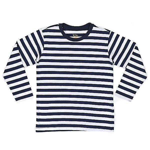 Camiseta Infantil Jokenpô Básica M/L Masculina Listrada