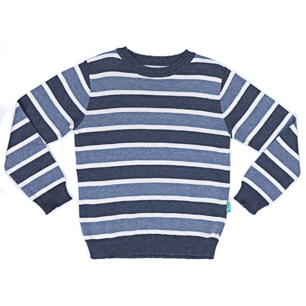 Blusa Infantil Jokenpô Tricot Listrada Masculina Azul