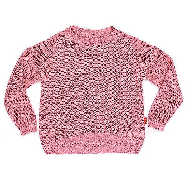 Blusa Infantil Jokenpô Tricot Feminina Rosa