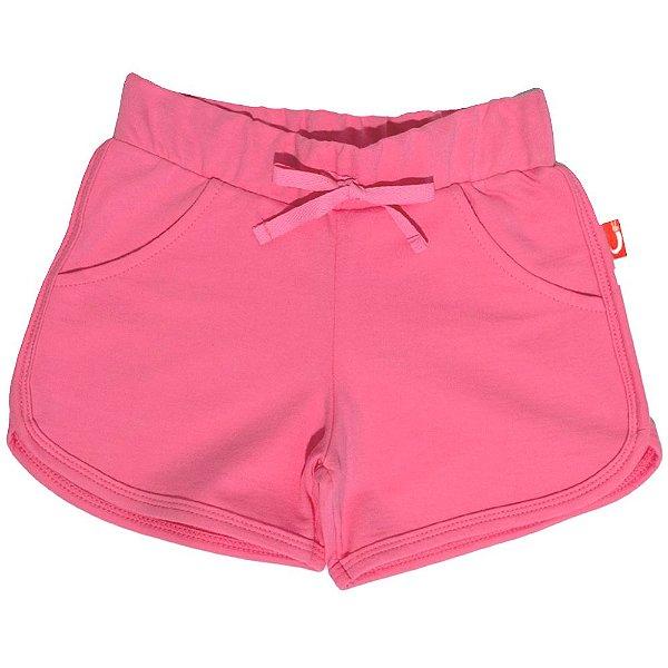 Shorts Infantil Jokenpô Malha Feminino Rosa