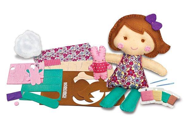 Costure uma boneca e um Coelhinho de estimação -  Boneca para Costurar