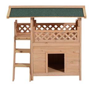 Casa de dois andares para gatos e cães