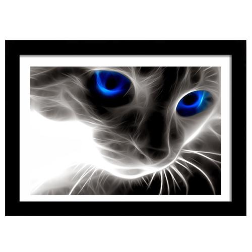 Quadro Decorativo para Sala em MDF Gato Olhos Azuis - Quadrolândia ... cc4425c2ad