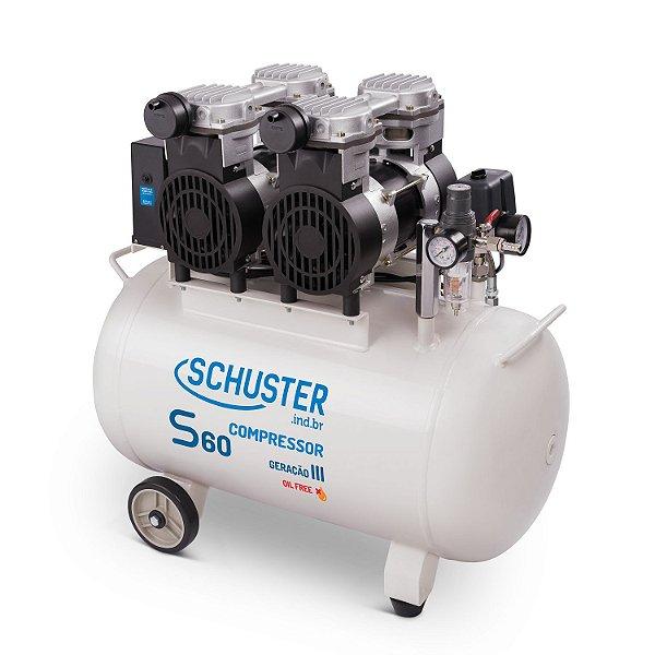 Compressor Odontológico S60 geração III - Schuster