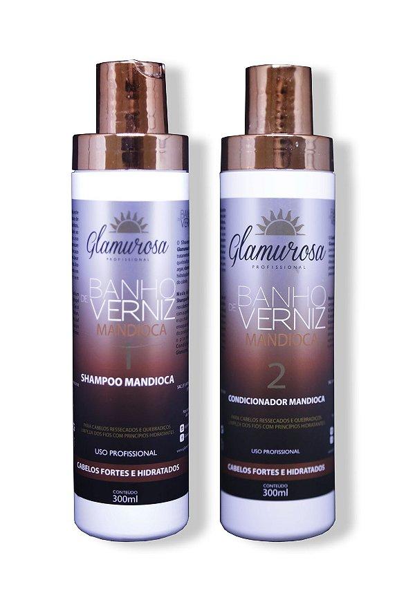 Kit Glamurosa Shampoo + Condicionador Mandioca 350g