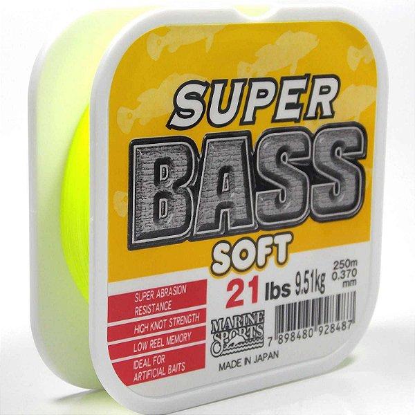 Linha Monofilamento 0.37mm 250m Super Bass - Amarela Marine Sports