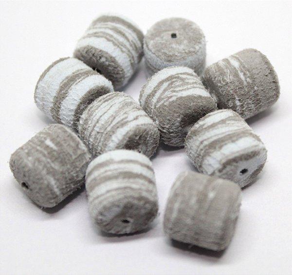 Eva Formato Ração - Cinza com Branco 20 Unidades