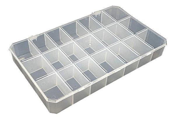 Caixa Organizadora 21 Divisórias - Plástica Cor:transparente