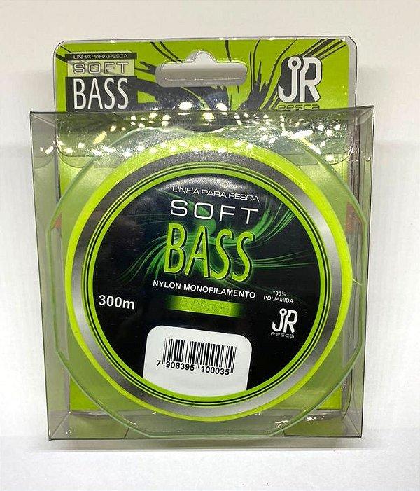 Linha Jr Pesca Soft Bass Nylon Amarelo 300M