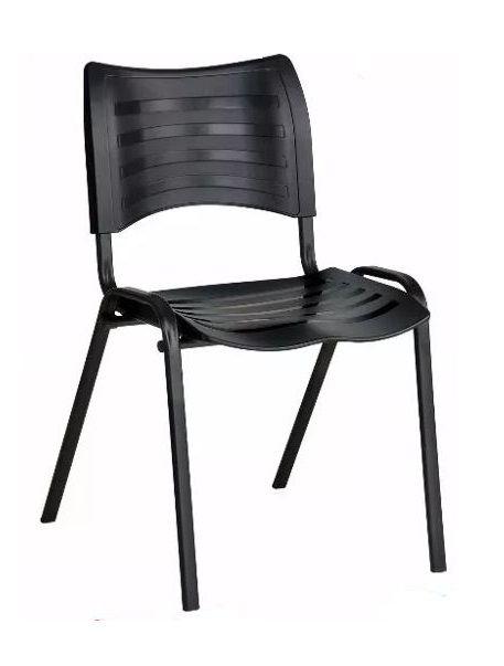 Cadeira Plast Preta Empilhavel